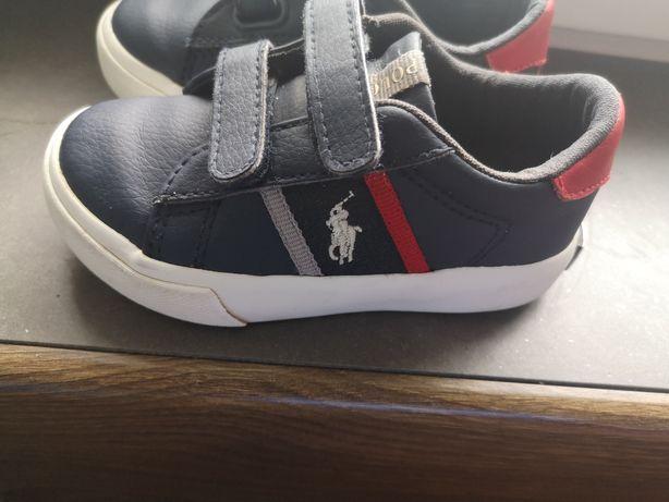 Buty trampki adidasy polo Ralph Lauren 21,5 granatowe jak nowe 14 cm