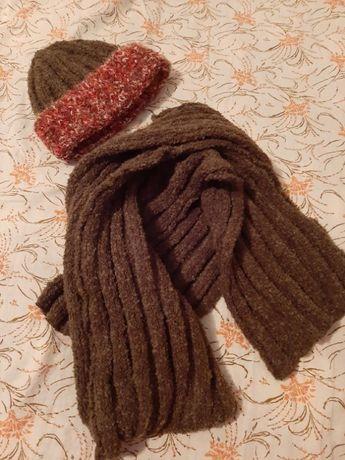 продам шапку с шарфом