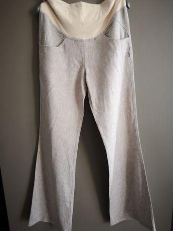Luźne lniane spodnie ciążowe polskiej firmy Branco