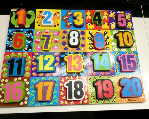 Puzzle układanka Cyfry liczby Melissa&Doug jumbo