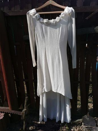 Sukienka ślubna galeria plastyczna ecru