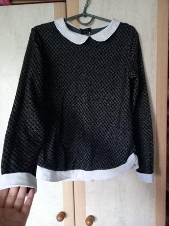 Кофта с вставками рубашки