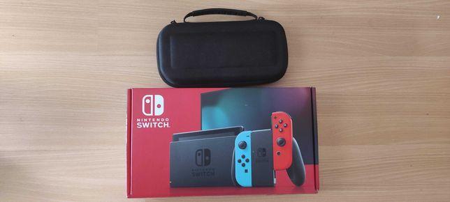 Nintendo Switch Edição Neon Blue/ Red -  garantia 1 ano oferta de jogo