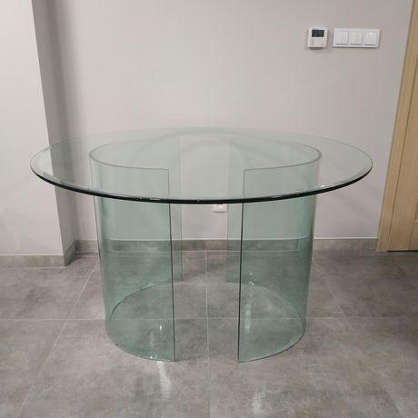 Oryginalny szklany stół śr. 120cm
