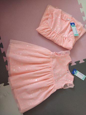 Nowe sukienki rozm 80
