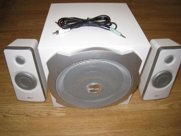 trust tytan белый колонки сабвуфер 2.1 система акустика