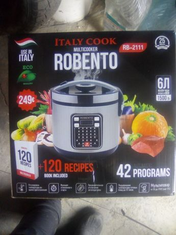 Мощная надёжная мультиварка Robento 42 программы,чаша 6 литров.Италия