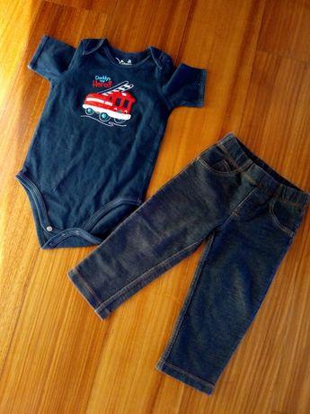 Calça e tshirt 18/24 meses menino Carters