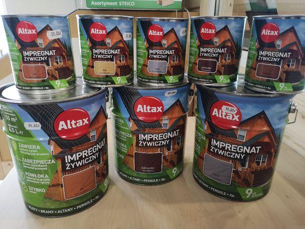 Impregnat żywiczny Altax do drewna pojemność 4,5L. I 0,75 L.