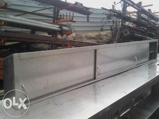 Armário de parede inox 3100x200x420/350 mm