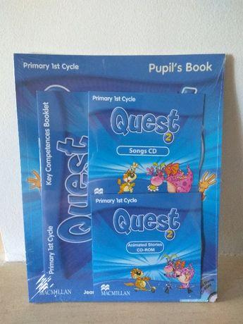 Livros de Inglês QUEST e CDs 1, 2 e 3 (pack ou individuais)