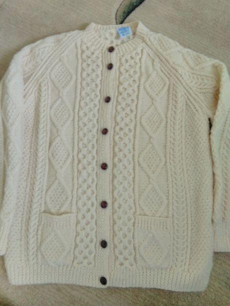 Nowy ciepły wełniany sweter John Molly XXXL