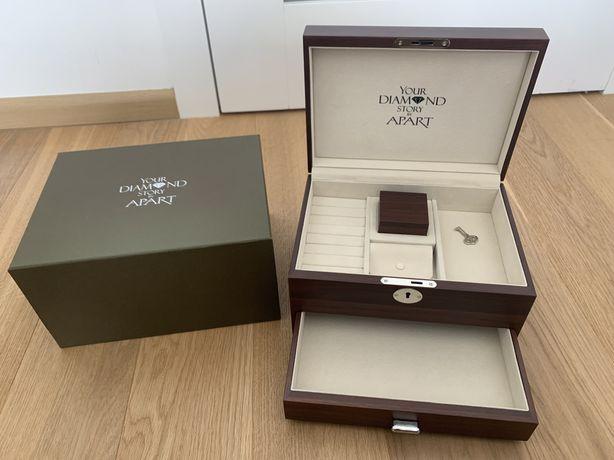 Szkatułka na biżuterię Apart elegancka drewniana REZERWACJA