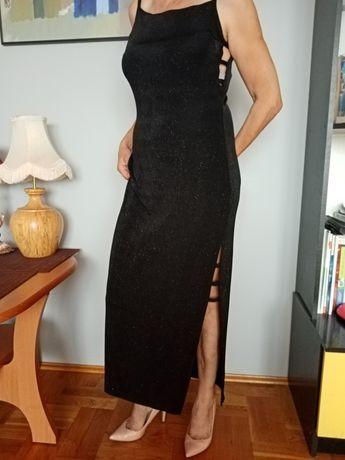 Suknia sukienka czarna wieczorowa 38