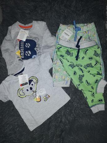 2x komplet dresik  r. 68 nowe dres spodnie dresowe +bluza