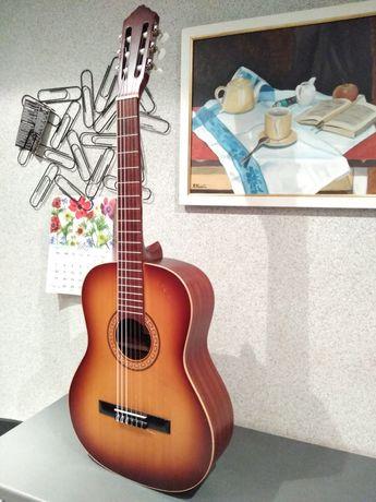 Piękna gitara klasyczna Nueva by Defil Lity świerk i mahoń Super stan