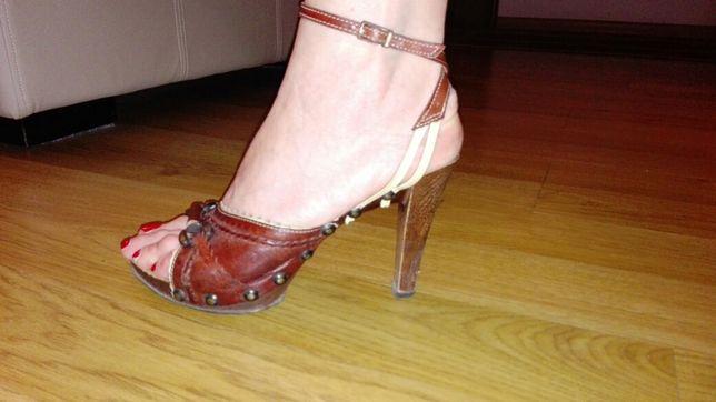 Buty drewniaki sandały szpilki koturny