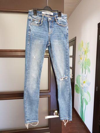 Джинсы Zara XS 34, зара штаны, trf скинни слим леггинсы джеггинсы