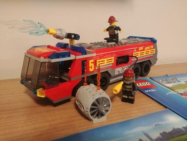 Lego City 60061 Straż pożarna straż lotniskowa kompletny