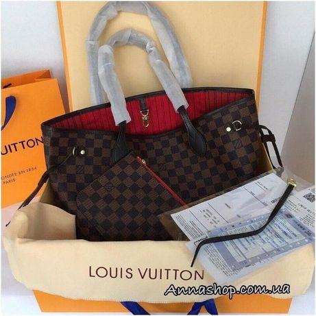 Сумка Луи Витон Неверфул Louis Vuitton, кожаная