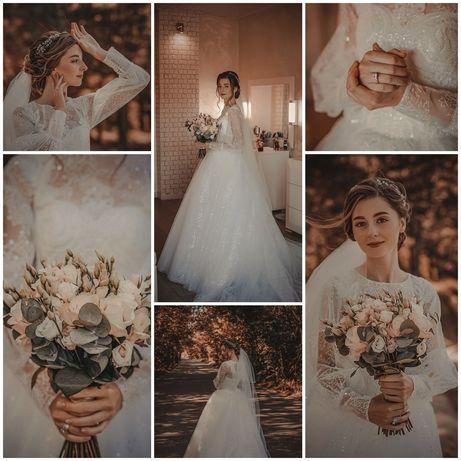 Весільне плаття xs-s (Studiomar)