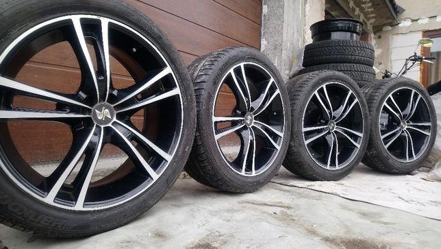 Felgi Koła Eta Beta 19 cali 5x100 ET35 Opony 245/45 Audi Skoda Seat