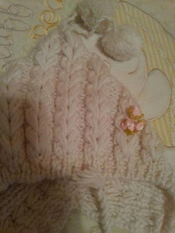 шапочка для новорожденной