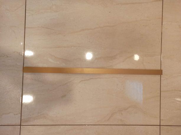 Listwy ścienne dekoracyjne złote Tubądzin x8