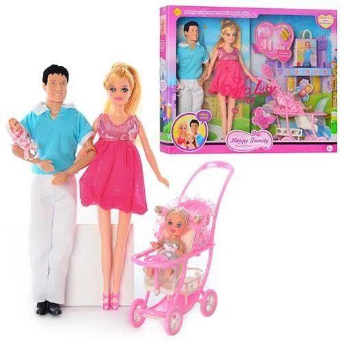 Семья кукол Defa 8088 кукла Барби дефа беременная, Кен, 2пупса,коляска Харьков - изображение 1