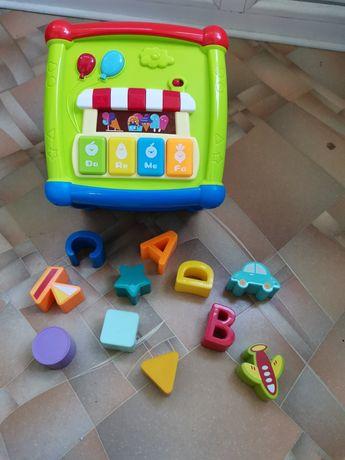 Детский сортер куб интерактивный