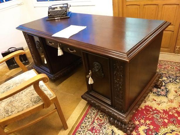 Piękne biurko - lwie łapy 20-lecie ub. wieku