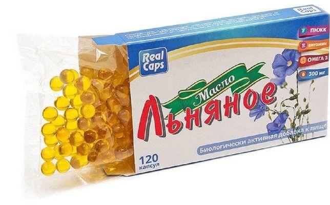 Olej lniany 120 kaps 250 mg