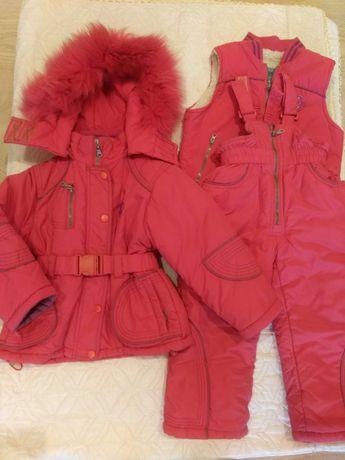 Зимняя куртка с полукомбинезоном 3 в 1 ф-мы Domido р 98. Супер цена!