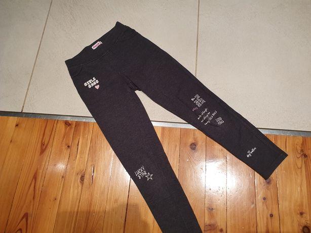 Leginsy 140 spodnie Youngstyle szare z napisami