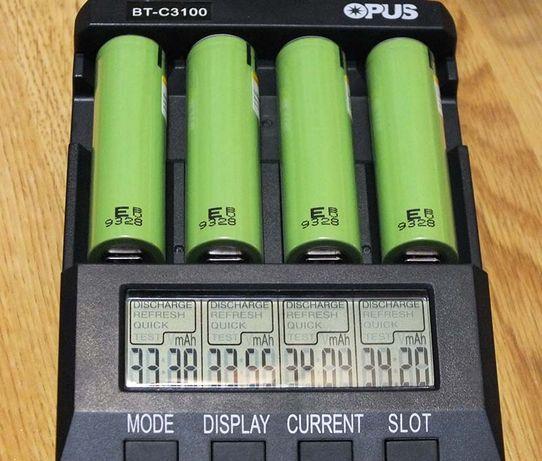 4 шт. 18650 аккумуляторы Li-Ion 3400 мАч
