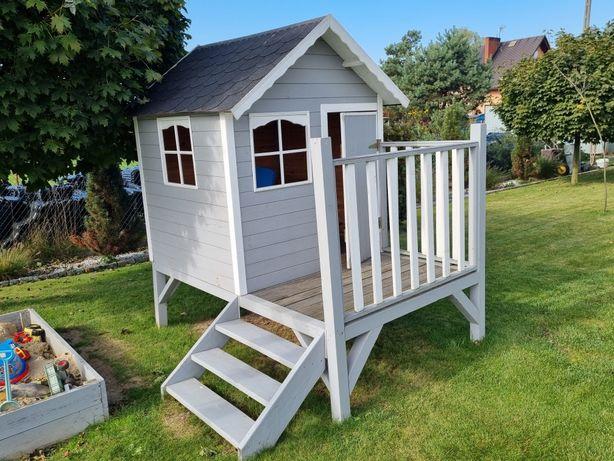 Drewniany domek dla dzieci do zabawy na plac zabaw 205x135x225