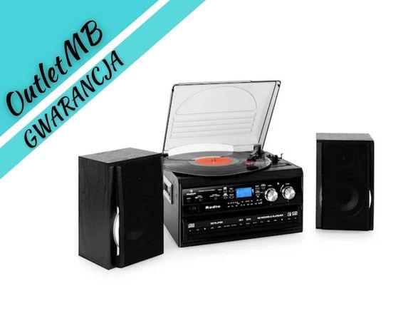 Mini wieża gramofon adapter radio magnetofon kaseta AUX X-bass 280703A