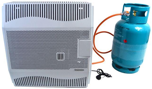 Ogrzewacz gazowy 5 kW z wentylatorem, garażu, hali, nagrzewnica