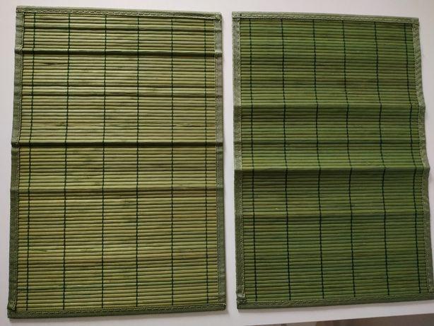 Drewniane bambusowe podkladki ja stół