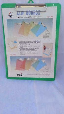Планшет пластиковый, А4, 22.5 х 32 см.
