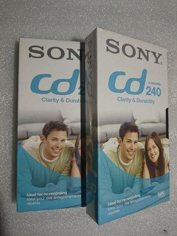 Kaseta VHS 240 minut Sony Oryginał, 2szt. Made in France.  nieChińskie