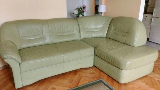 KANAPA - narożnik skórzany + fotel