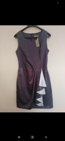 NOWA z metką Grafitowa elegancka sukienka AWear