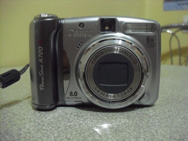 Aparat fotograficzny Canon A720 IS 8 megapixel