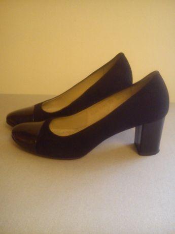 czółenka MARCO Shoes markowe skóra+ lakier jak NOWE 38