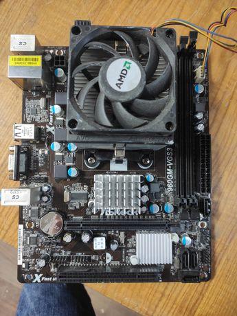 Продам комплект плата + ЦПУ, Asrock 960M-VGS3 FX, Phenom II 955