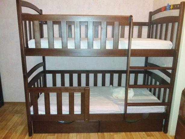 Детская двухъярусная кровать трансформер с дерева кроватка, купить