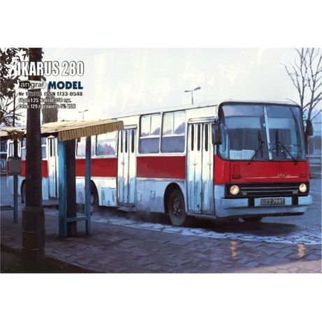 Autobus Ikarus 280 skala 1:25 model kartonowy Angraf