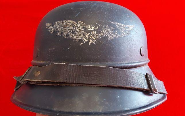 Capacete Luftschutlz ORIGINAL nazi Alemanha suástica
