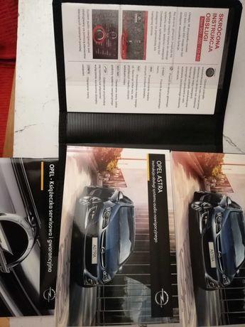 Instrukcja obsługi Opel Astra J nowa